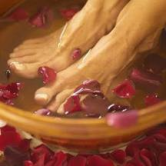 A nice treat:  Soaking your feet in warm water before bed can help provide relaxation and help harmonize the inner organs for sleep.